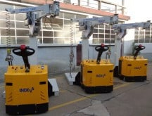 Moveable column mounted manipulator