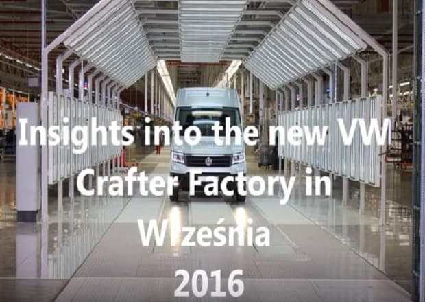 VW Crafter van assembly with pneumatica manipulators INDEVA