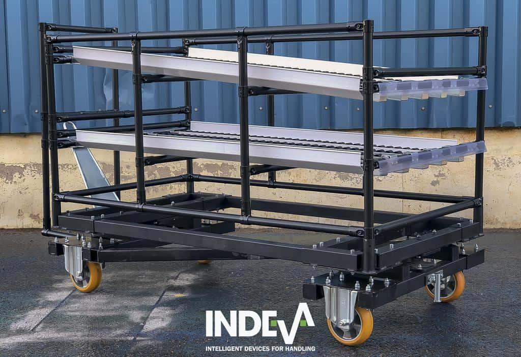Модульные буксирные тележки INDEVA Lean System можно использовать в составе поезда или индивидуально для буксировки с помощью AGV.
