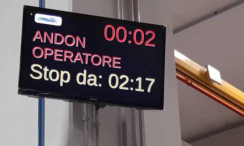 Вдоль производственной линии установлено 10 экранов, подключенных к Wi-Fi, которые взаимодействуют с диспетчером INDEVA® , что позволяет каждому оператору следить за работой в режиме реального времени.