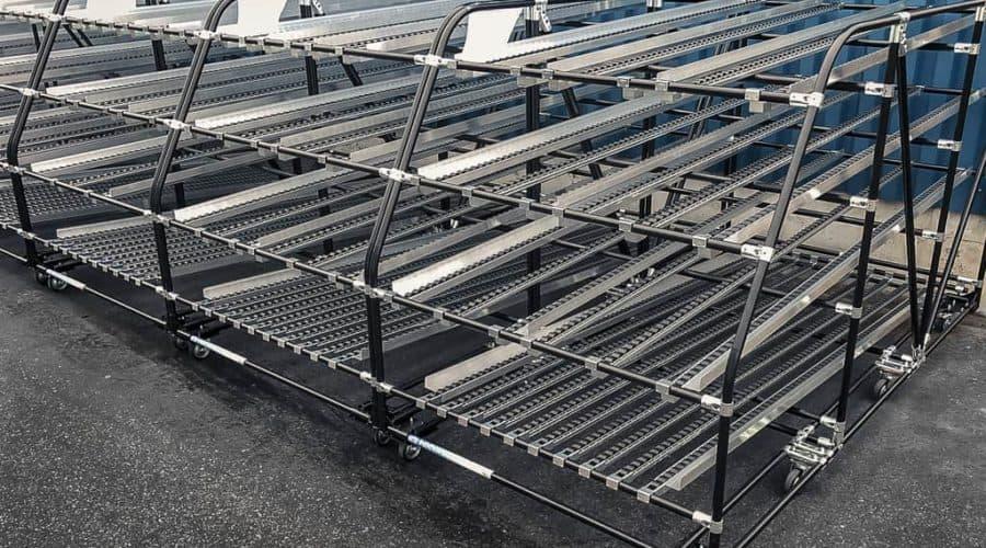 INDEVA Lean System® идеально подходит для создания модульных стоек с гравитационным перемещением для различных применений.