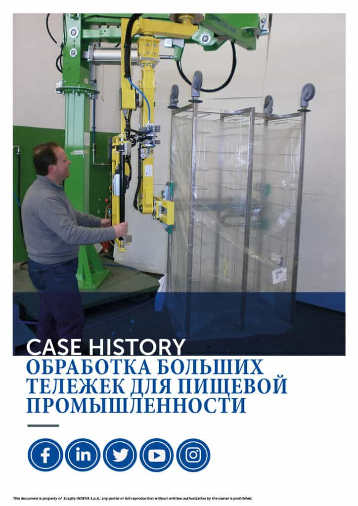 Истории успеха Indeva: обработка больших тележек для пищевой промышленности, повышение эргономики и безопасности внутри компании