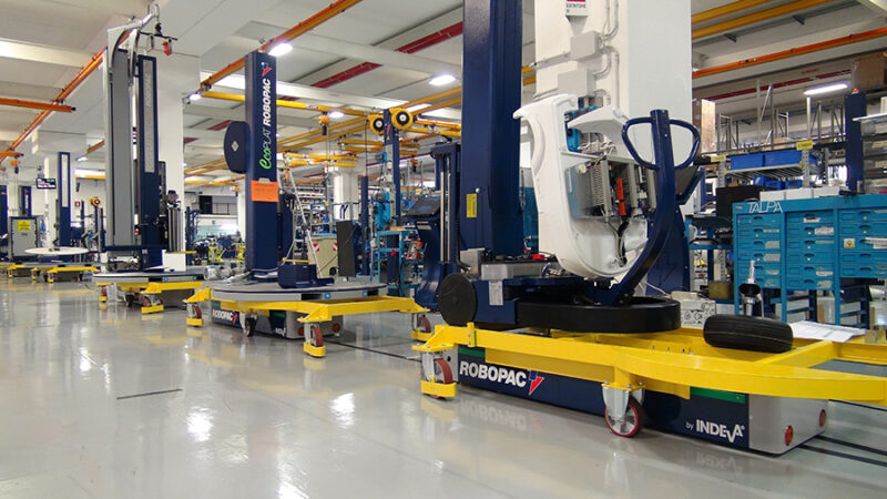 Smart FActory at Robopack factory withthe AGV INDEVA